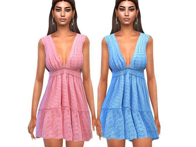 Sims 4 Summer Colorful Dresses by Saliwa at TSR