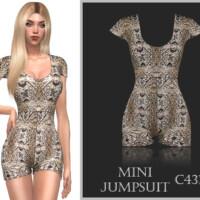 Mini Jumpsuit C431 By Turksimmer
