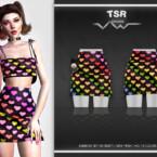 Rainbow Set-134 (skirt) Bd486 By Busra-tr