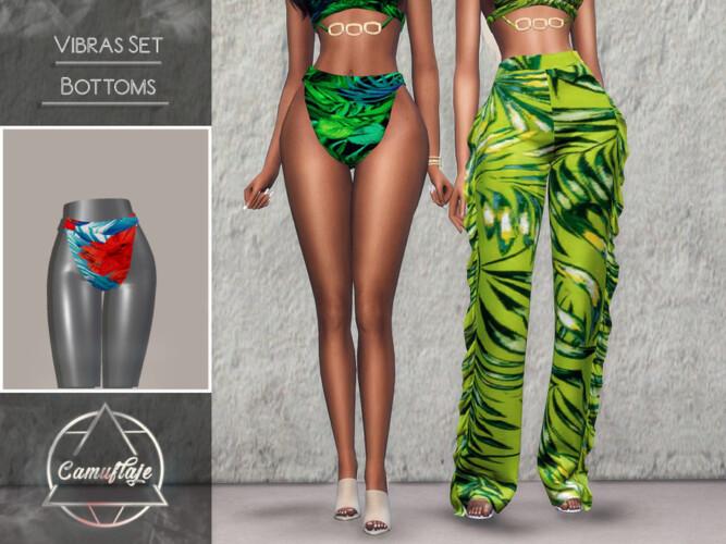 Vibras Set Swimsuit Bottoms By Camuflaje