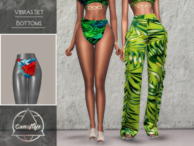 Sims 4 Vibras Set Swimsuit Bottoms by Camuflaje at TSR