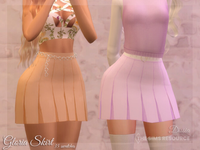 Sims 4 Gloria Skirt by Dissia at TSR