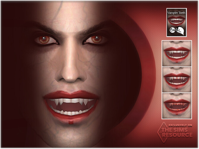 Sims 4 Vampire Teeth by BAkalia at TSR