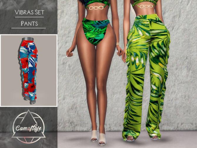 Sims 4 Vibras Set Pants by Camuflaje at TSR