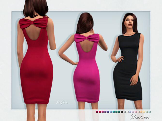 Sims 4 Sharon Dress by Sifix at TSR