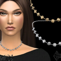 Mini Disk Chort Chain Necklace By Natalis