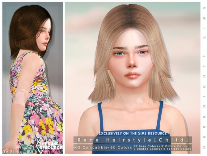 Sims 4 Rene Hairstyle [Child] by DarkNighTt at TSR