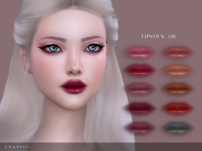 Sims 4 Lipstick A10 by ANGISSI at TSR