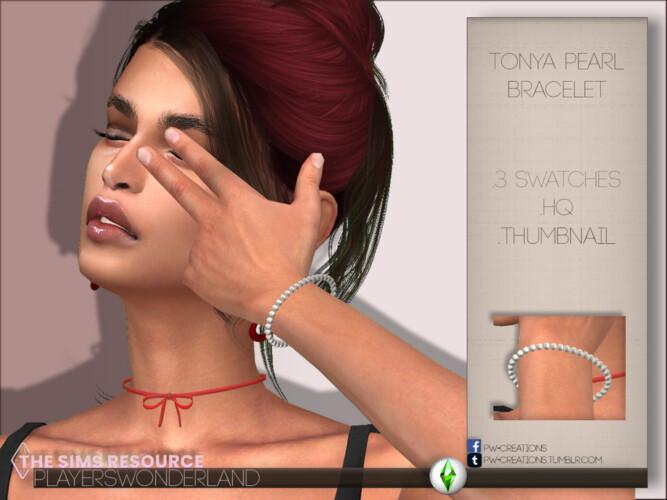 Tonya Pearl Bracelet By Playerswonderland