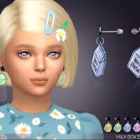 Milk Box Earrings For Kids By Feyona