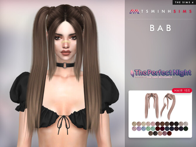 The Perfect Night Bab Hair 155 By Tsminhsims