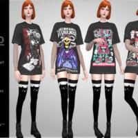 Dako Vol.2 T-shirt Dress By Helsoseira