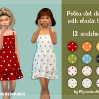 Polka Dot Dress With Elastic Top By Mysteriousoo