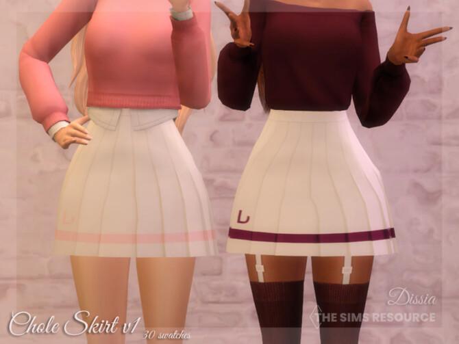 Sims 4 Chloe Skirt v1 (Light) by Dissia at TSR