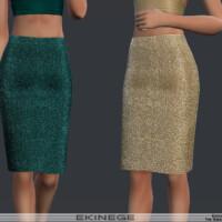 Sequin Pencil Skirt By Ekinege