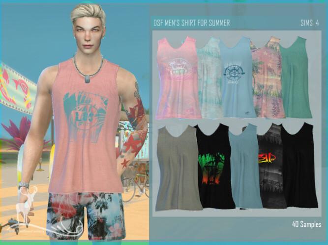 Men's Shirt For Summer By Dansimsfantasy