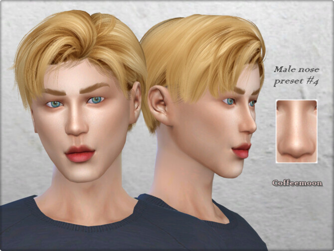 Sims 4 Male nose preset #4 by Coffeemoon at TSR