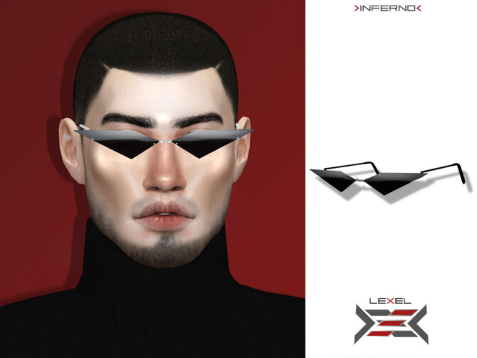 Sims 4 Inferno sunglasses by LEXEL at TSR