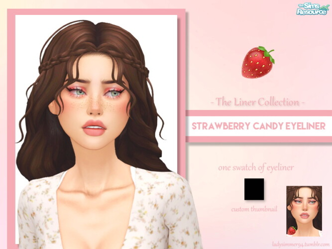 Strawberry Candy Eyeliner By Ladysimmer94