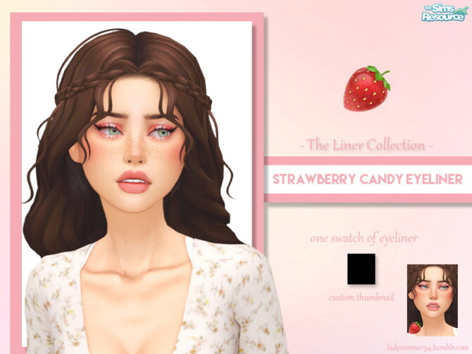 Sims 4 Strawberry Candy Eyeliner by LadySimmer94 at TSR