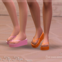 Amber Flip Flops By Dissia