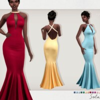 Solana Formal Mermaid Gown By Sifix