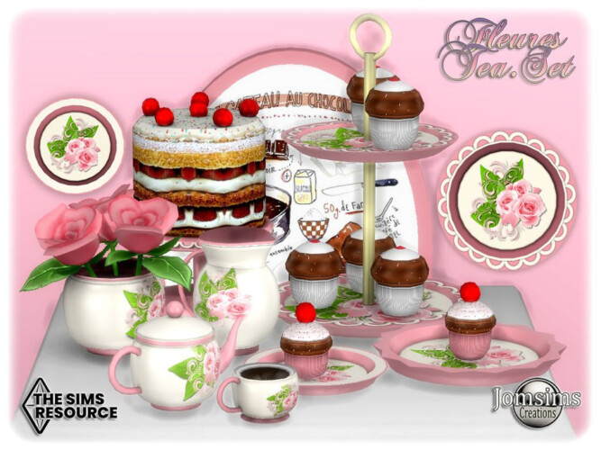 Fleures Tea Set By Jomsims