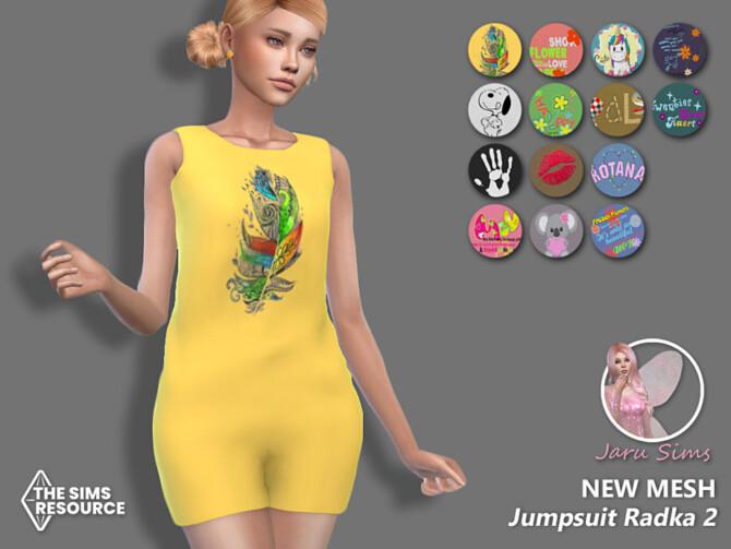 Sims 4 Jumpsuit Radka 2 by Jaru Sims at TSR