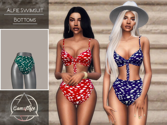 Alfie Swimsuit Bottoms By Camuflaje
