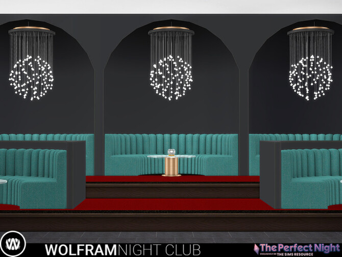 Sims 4 Wolfram Night Club Seating Area by wondymoon at TSR