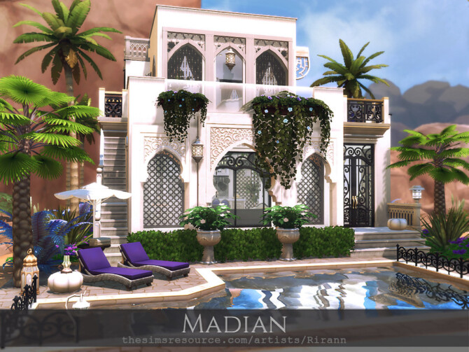 Sims 4 Madian house by Rirann at TSR