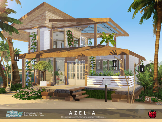 Sims 4 Azelia house by melapples at TSR