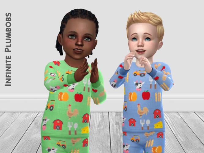 Ip Toddler Farm Pj Top By Infiniteplumbobs