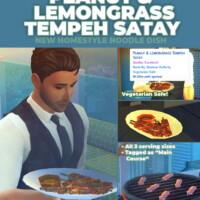 Peanut And Lemongrass Satay Skewers