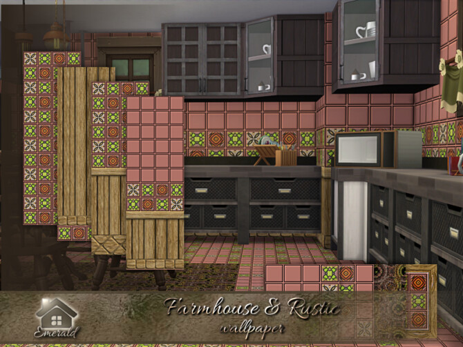Sims 4 Farmhouse & Rustic Wallpaper by emerald at TSR