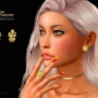 Flower Earrings By Suzue