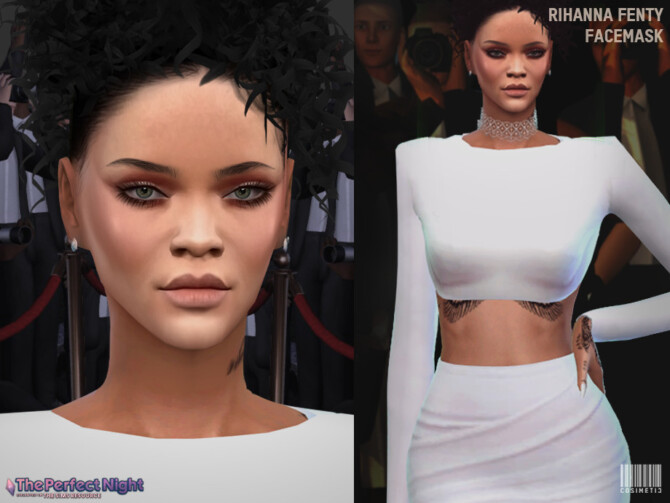Sims 4 The Perfect Night Rihanna Fenty Facemask by cosimetic at TSR