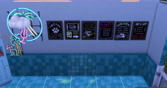 Sims 4 Menu/Specials Chalkboards For Your Business Venues at Mod The Sims 4