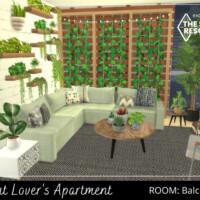 Plant Lover's Apartment Balcony By A.lenna
