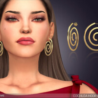 Cochlea Hoop Earrings By Feyona