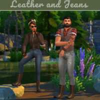 Leather And Jeans Mini Clothing Collection