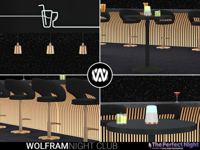 Sims 4 Wolfram Night Club Juice Bar by wondymoon at TSR