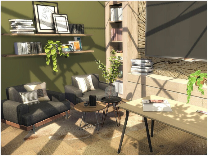 Sims 4 Cozy Office by lotsbymanal at TSR