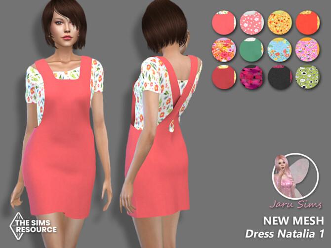 Sims 4 Dress Natalia 1 by Jaru Sims at TSR