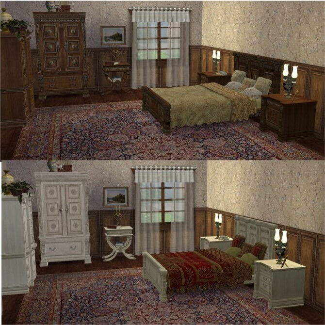 Sims 4 Conversion TS2 to TS4 Royal bedroom Vitasims 2 at All 4 Sims