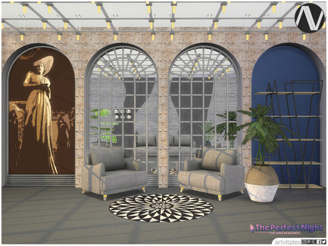 Sims 4 Alcina Ambient Decoration by ArtVitalex at TSR