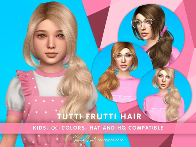 Tutti Frutti Hair For Kids By Sonyasimscc