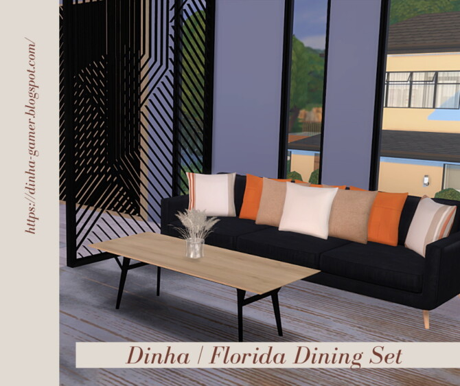Sims 4 Florida Dining Set at Dinha Gamer