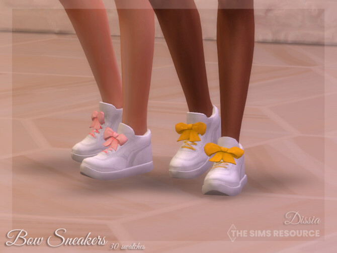 Sims 4 Bow Sneakers by Dissia at TSR