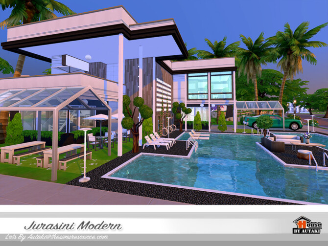 Sims 4 Jurasini Modern House by autaki at TSR